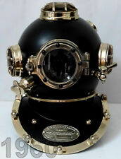 Antique Black Scuba Diving Helmet Navy London Sea Boston Vintage Divers Helmet