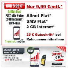 Allnet Flat Sim Karte Only Handyvertrag 2GB Internet Flat SMS Vertrag ohne Handy
