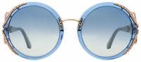 Roberto Cavalli RC 1076 90X MASSARO Round Sunglasses Blue/Rose Gold Oversized 59