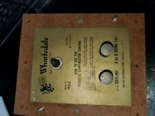 vintage WHARFEDALE W20D 2-WAY CROSSOVER/ INPUT PLATE