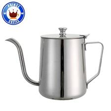 JOEFREX Stainless Steel Barista Coffee Drip Kettle With Lid 590ML /20OZ