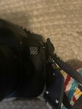 Canon 70D Digital SLR Camera with 25mm Lens, Strap + Charger