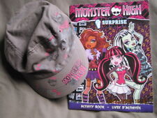 MONSTER HIGH Skull Grey Sun Cap Hat Teenage with Activity Book
