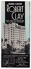 1950s ROBERT CLAY HOTEL Pool Cabana Club MIAMI FLORIDA FL Travel BROCHURE Deco