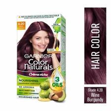 4.20 Garnier Hair Color Cream No Ammonia Grey Coverage Wine Burgundy Shade -70ml