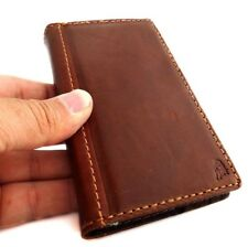 genuine Leather Case for Nokia Lumia 928 book Wallet cover skin vintage brown uk