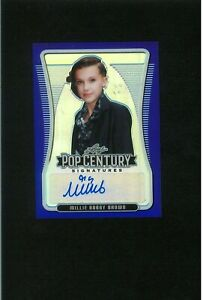 MINT Millie Bobby Brown Autograph #/20 STRANGER THINGS Variant Pop Century Auto