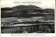 Köterberghaus Werbekarte Reklame AK ~1950/60 Werbekarte Hotel Köterberghaus