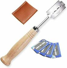 Qooner Bread Bakers Cutter Slashing Tool Dough Making Razor Wood Handle Bakeware