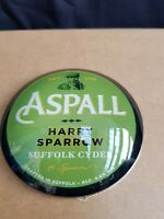 Aspall Harry Sparrow Suffolk Cider Round Frog Eye FONT BADGE New