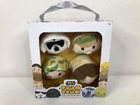 "Tsum Tsum Disney Star Wars 4 Plush Collector Set 2"" Characters NIB Mint Toys"