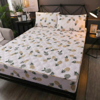 Home Hotel King Mattress Quilted Fitted Protector Cover Mattress Sheet Cover