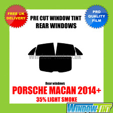 PORSCHE MACAN 2014+ 35% LIGHT REAR PRE CUT WINDOW TINT