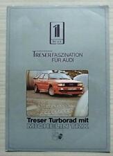 Treser AUDI Gamme & Michelin TRX Les Ventes De Voitures notice 1985 mars texte allemand