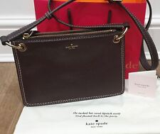 KATE SPADE Brown Textured Leather Small Shoulder Strap Crossbody Bag - NEW!