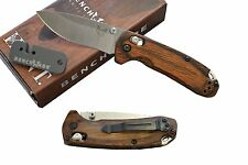 Benchmade Hunt 15031-2 North Fork Pocket Knife S30V Blade  Wood handle