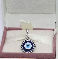 AUTHENTIC PANDORA Blue Dangle Eye Dangle Charm, 790529EB       #1905