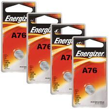 4 pcs Energizer A76 Alkakine Coin 1.5V Batteries Single Pack LR44 357 Exp: 2019