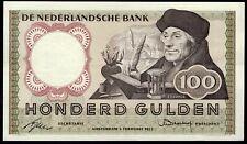 Netherlands: Nederlandsche Bank. 100 Gulden. 4KS 034976. 2-2-1953. (Pick 88a)...