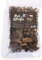 Pet 'n Shape Beef Lung Dog Treats - All Natural Healthy Treat, Bites, 1 Pack