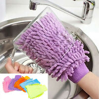Microfiber Car Window Washing Home Furniture Cleaning Cloth Dust Towel Gloves