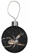 Spider on His Dew Drop Web Craft Christmas Tree Bauble Decoration Gift, I-SP1CB