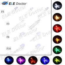 3 5 8 10mm Round Top agua clara de los diodos LED blanco rojo 3pin Bi-Color Foco de Luz