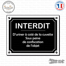 Sticker Interdit d'uriner Decal Aufkleber Pegatinas D-053 Couleurs au choix