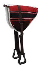 RED Navajo print Bareback Saddle Pad with Fleece Bottom! NEW HORSE TACK