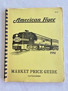 American Flyer Trains Market Price Guides Prewar 1981 edition Spiral Bound book