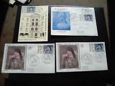 FRANCE - 3 enveloppes 1 carte 1er jour 27/3/1982 (journee du timbre) (B14)french