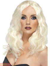Ladies 70s 80s Superstar Fancy Dress Wig Platinum Blonde Hen by Smiffys