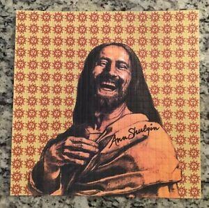BLOTTER ART SIGNED By ANN SHULGIN. LAUGHING JESUS / ORANGE SUNSHINE .