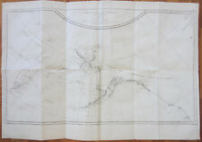 J. Cook Original Print 1st Edition Large Map Bering Strait Alaska - 1774#