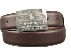 Lknw Polo Ralph Lauren Inscribed Madison Ave Limited Golf Belt Mens Sm 28 30 Rrl
