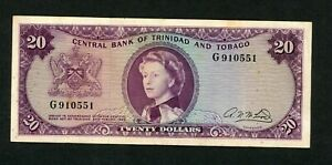 TRINIDAD & TOBAGO  20  DOLLARS   L. 1964    PICK # 29b  F-VF.