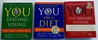 3 YOU Owner's Manual Books Lot Oz Roizen You on a Diet Staying Young Hardcovers