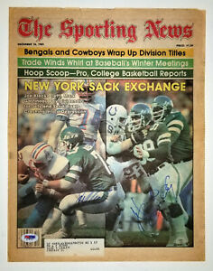 MARK GASTINEAU JOE KLECKO Dual Vintage Signed December 1981 Sporting News PSA