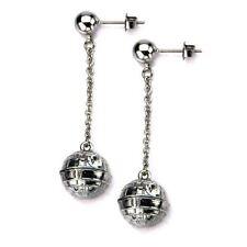 Orecchini di bigiotteria bottoni argento goccia