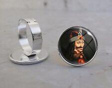 Silver Plated Adjustable Ring Vlad Țepeș The Impaler House of Drăculești Dracula