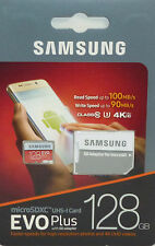 SAMSUNG 128GB EVO Plus microSDXC UHS-I Card w/ SD Adapter #MB-MC128GA/AM NEW