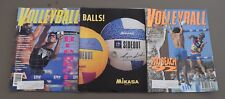 LOT OF 3 VOLLEYBALL MONTHLY MAGAZINES OCT.1991 APRIL & FEB 1992 BOX42