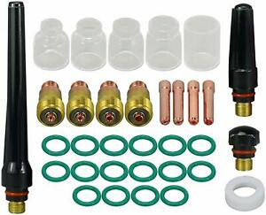 Tig Stubby Gas Lens Collet Body Pyrex Cup Kit For Db Sr Wp 17 18 26 Tig Torch We
