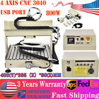 USB 4 Axis 3040 CNC Router Engraver Milling Engraving Machine Metal Cutter 0.8KW