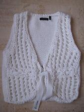 Boléro IKKS 6 ans en coton épais blanc ajouré