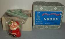 NOS Vintage Christmas Santa Pencil Sharpeners ~ Box Of 6
