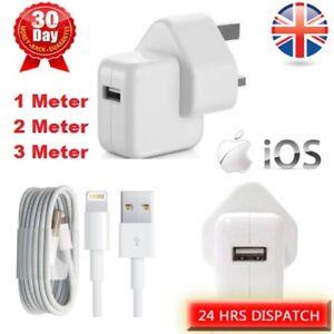 12W Fast Mains Wall Charger Plug Cable iPad Air iPhone X 8 7 6 5 iPad 1 2 3