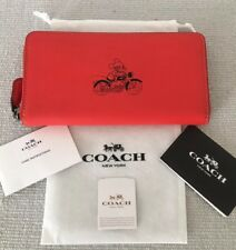 Coach X Disney Collaboration Red Leather Mickey Wallet - New With Tag.