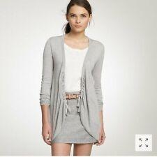 New! J CREW L Large Heather Gray Cadabra Cardigan Silk