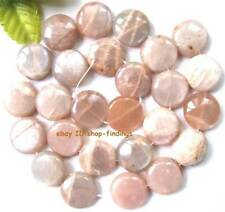 button 15mm natural sunstone loose Beads 15""